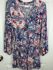 Old Navy Floral Romper Petite Small